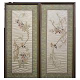 Pair of Hand Embroidered Chinese Silk Panels