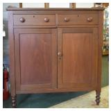 Antique ca. 1850 Cherry Jelly Cupboard, Jelly Safe
