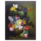 Terence Alexander Original Floral Still Life O/C