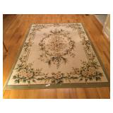 5ft5in x 8ft8in Ivory/Green Shaw Rug