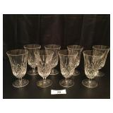 (8) Waterford Crystal 6.5in Stemmed Iced Tea
