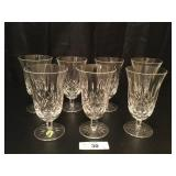 (7) Waterford Crystal 6.5in Stemmed Iced Tea