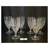 (6) Crystal Goblets
