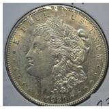 1921 D Morgan Silver Dollar Choice BU