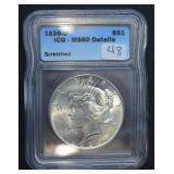 1926 D Peace Dollar MS60 Details