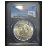 1926 Peace Dollar PCGS MS62