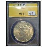 1925 Peace Dollar MS64