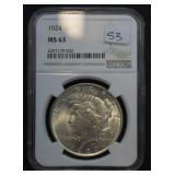 1924 Peace Dollar MS63