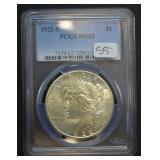 1922 S Peace Dollar PCGS MS62