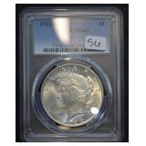 1922 D Peace Dollar PCGS MS63