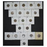 20 pcs. Indian Head Pennies