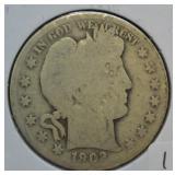 1902 S Barber Silver Half Dollar