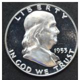 1953 Franklin Half Dollar Proof