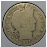 1906 O Silver Barber Half Dollar