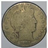 1908 Silver Barber Half Dollar