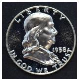 1958 Franklin Half Dollar Proof
