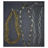 3 pcs. Costume Necklaces - 2 Daisy Fuentes