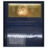 2001 $100 Gold Foil Note