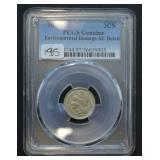 1876 Three Cent Piece PCGS AU Detail Environmental