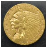 1915 $2.50 Dollar Gold Indian Head