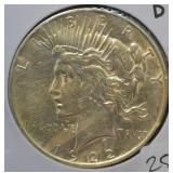 1922 D Peace Dollar Choice BU