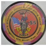 2005 Laughlin NV River Run $5 Poker Chip