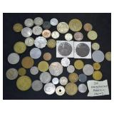 50 pcs. Unsearched Foreign Coins