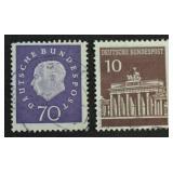 2 pcs. Deutsche Bundespost Stamps