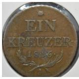 1816 A 1 Kreuzer