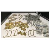Large assortment of drawer pulls & hooks