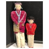 Father & Son Handmade Indian Dolls