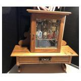 Oak Medicine Cabinet w/Mirror