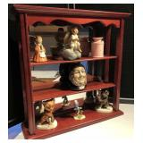 Mirrored Back Curio Cabinet w/Contents