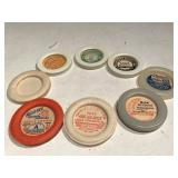 Collection of Antique Dairy Bottle Tops