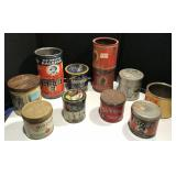 Collection of Vintage Tobacco Tins