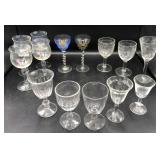 Collection of Cordial Glasses
