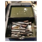 Collection of Vintage Chisels & Military Box