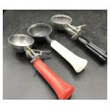 3 Vintage Ice Cream Dippers