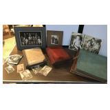Antique Photo Album with Photos & Scrapbook Albums