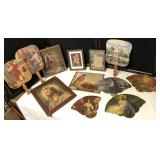 Collection of Religious Framed Prints & Fans