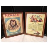 Pair of Vintage Framed Prints