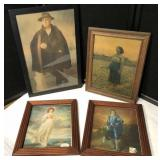 Antique Pastel Portrait, Print on Board and more
