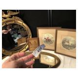 Framed Eagle Mirror, Oval Mirror & Prints