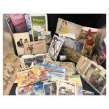 Collection of Postcards, Maps and Stationary Holde