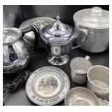 Hammered Aluminum Ice Bucket & Serving Dish & More