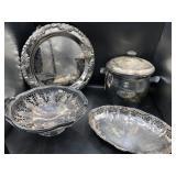 Regis Platter, Silverplated Basket, Ice Bucket