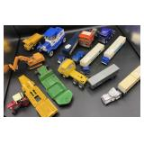 Die Cast Trailer and Tonka Truck and more