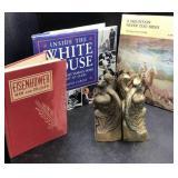 Cast Brass Eagle & Books