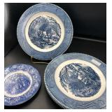 Currier & Ives Plates & Blue Transferware