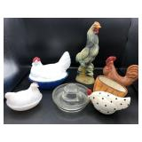 Collection of Roosters and Chickens